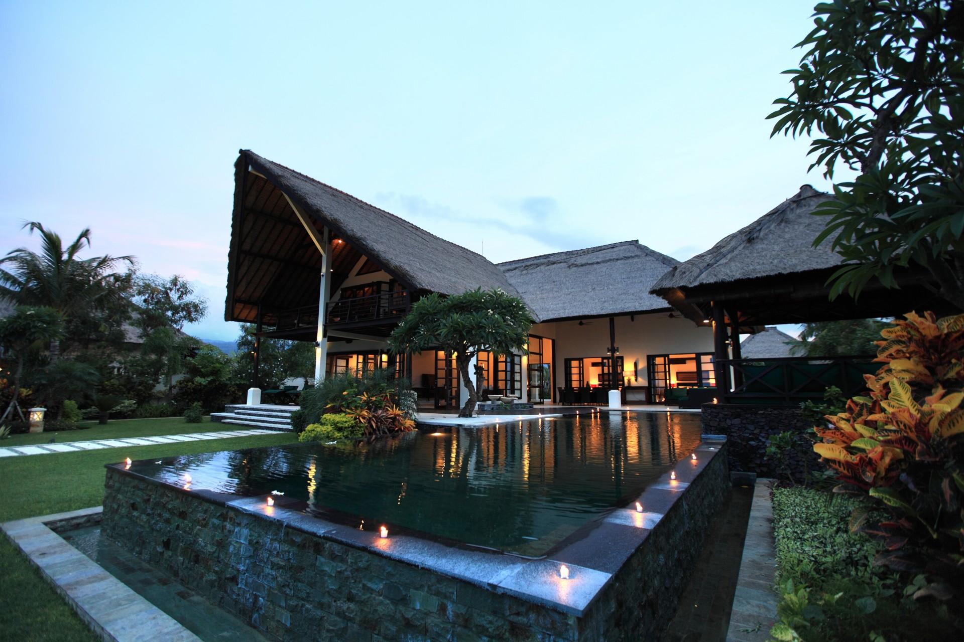 villa baruna by evening